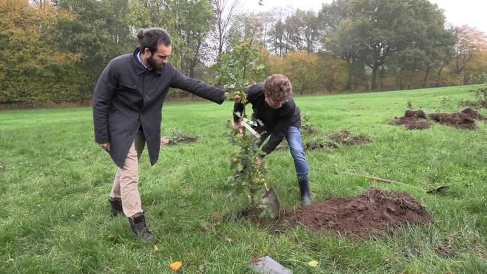 News video: Segeberg: Atze Schröder pflanzt erste Bäume für neuen Wald