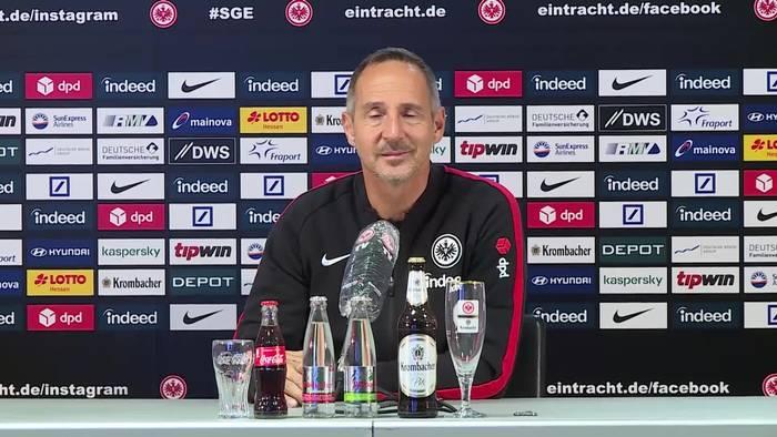 News video: Das sagt Eintracht-Trainer Adi Hütter über Sportvorstand Fredi Bobic