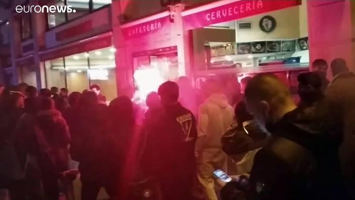 News video: Madrid und Rom: Kritik an Corona-Auflagen mündet in Gewalt