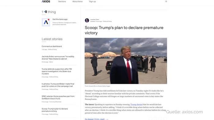 Video: Bericht: Trump könnte sich vorab zum Sieger erklären
