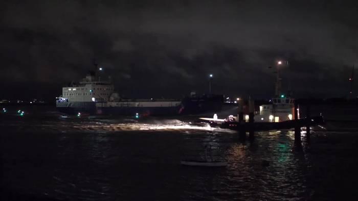 News video: Castor-Transportschiff legt in Nordenham an