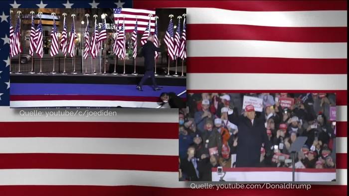 Video: US-Wahl: Knappes Rennen zwischen Trump und Biden