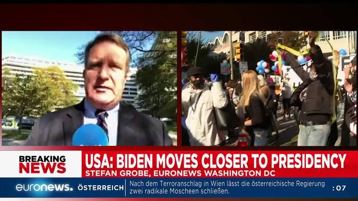 News video: US-Wahl 2020: Langes Zählen vor dem Feiern - Euronews am Abend am 06.11.