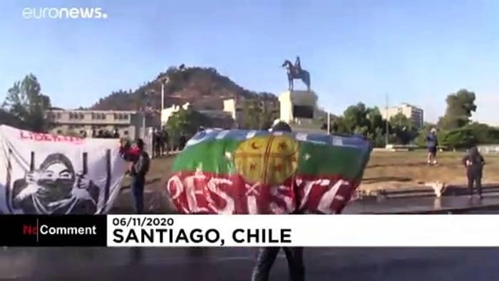 Video: Auch nach dem Verfassungsreferendum protestieren viele Chilenen weiter
