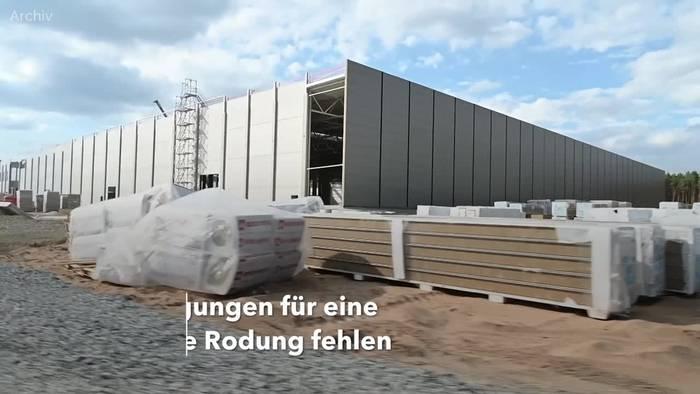 News video: Bau von Tesla-Fabrik bei Berlin zurzeit nicht im Zeitplan