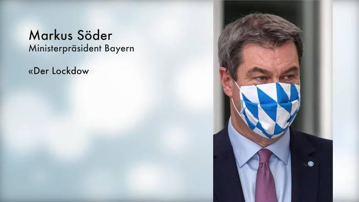 News video: Söder: «Der Lockdown light wird wirken»