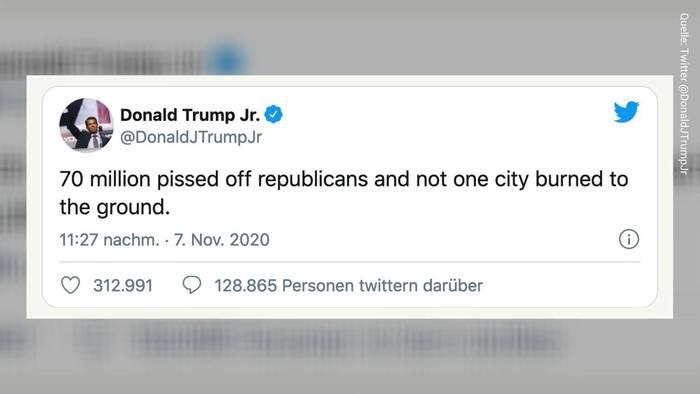 News video: Donald Trump jr. heizt die Stimmung weiter auf