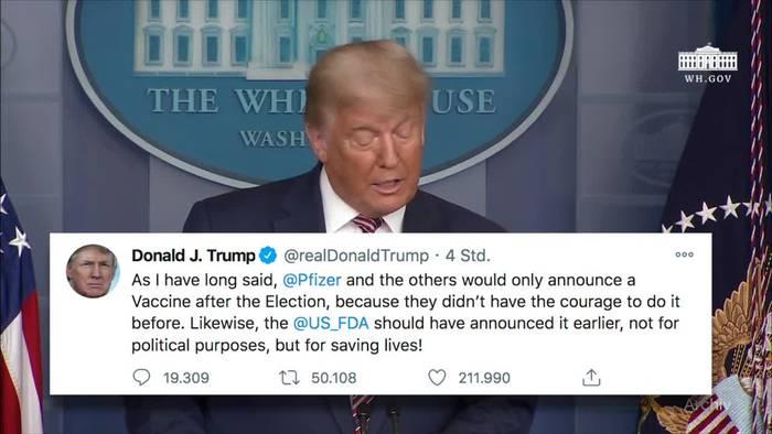 News video: Trump attackiert Pharmakonzern und bestreitet Niederlage