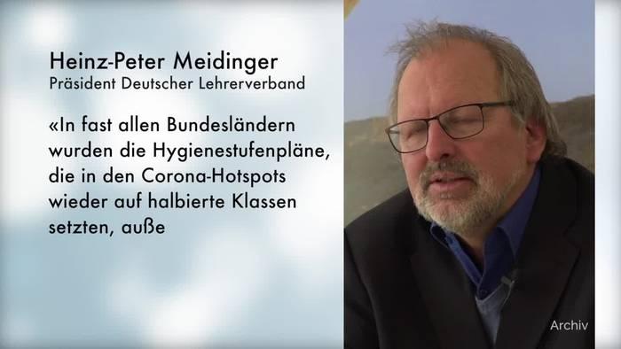 News video: Lehrerverband: 300 000 Schüler und 30 000 Lehrer in