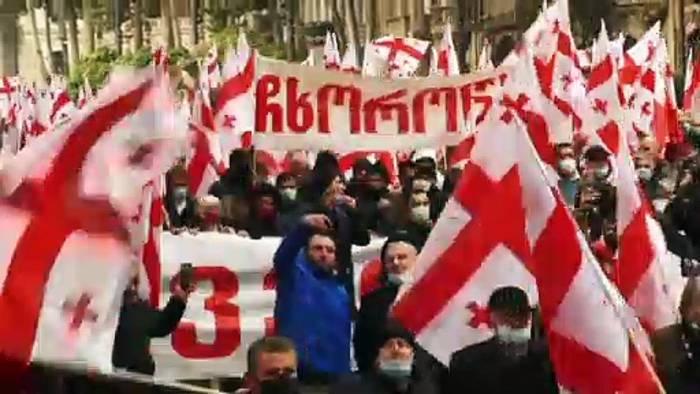 News video: Wieder Proteste in Georgien gegen die Regierung