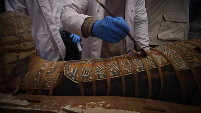 News video: Kairo: Archäologen finden erneut altägyptische Särge