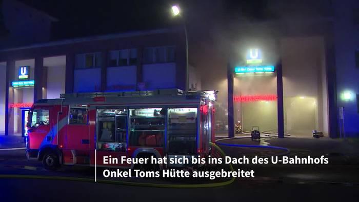 News video: U-Bahnhof im Vollbrand: Feuerwehr-Großeinsatz in Berlin