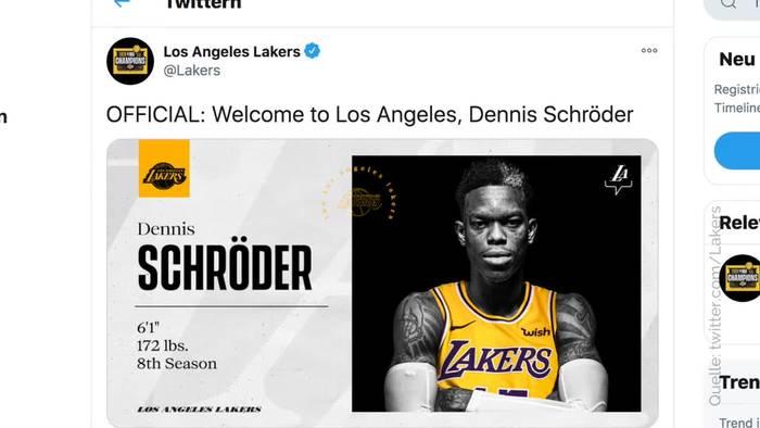 News video: NBA: Nationalspieler Schröder wechselt zu Los Angeles Lakers