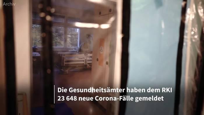 News video: Neuer Höchststand: 23 648 neue Corona-Infektionen gemeldet