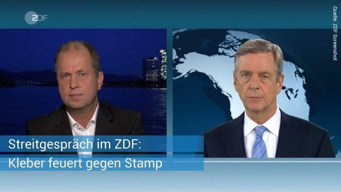 News video: Streitgespräch im ZDF: Claus Kleber feuert gegen Joachim Stamp