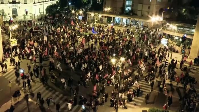 News video: Proteste in Israel: Tausende wollen Rücktritt Netanjahus