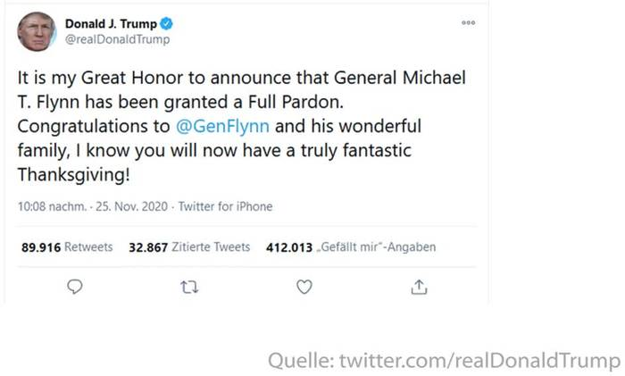 Video: Trump begnadigt ehemaligen Sicherheitsberater Michael Flynn