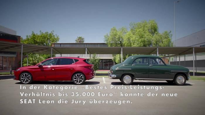 """News video: """"Goldenes Lenkrad"""" für den neuen SEAT Leon"""