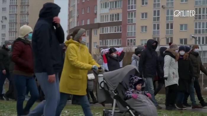 News video: Proteste in Belarus - Schnee, Kälte und Zerstreuungstaktik