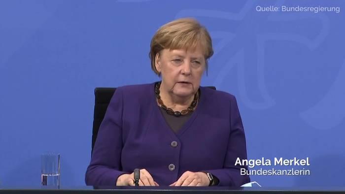News video: Teil-Lockdown verlängert - Kanzlerin Merkel erklärt warum