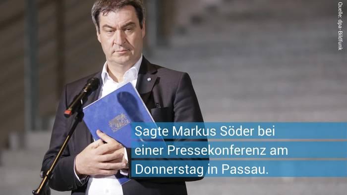 News video: Silvester-Hammer möglich: Markus Söder zu Lockdown-Verschärfungen