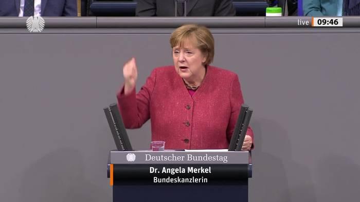 Video: Emotionaler Appell von Merkel für weitere Kontaktreduzierung