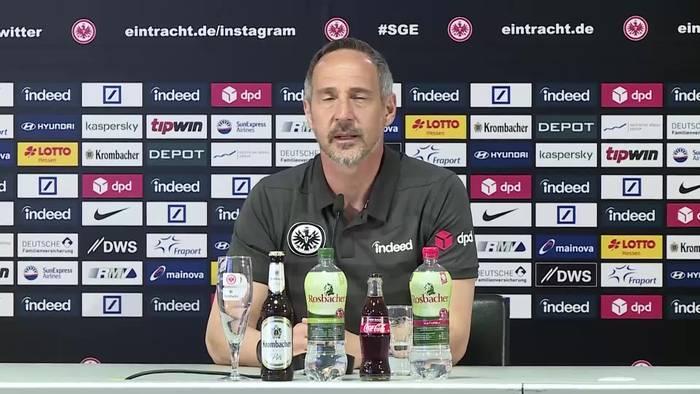 """News video: Hütter über Gladbach-Wechsel: """"Keine Lust ständig Gerüchte zu kommentieren"""""""