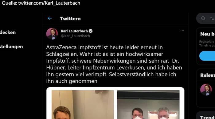 News video: Lauterbach hat sich mit Astrazeneca-Präparat impfen lassen