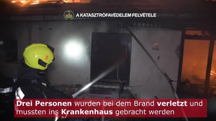 News video: Ferienhaus in Budapest in Vollbrand - Drei Verletzte!