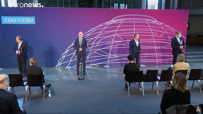 Video: Pressekonferenz mit Laschet und Söder in Gänze