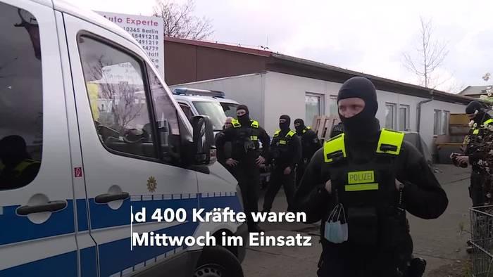 News video: Razzien im Berliner Rauschgiftmilieu - 400 Beamte im Einsatz