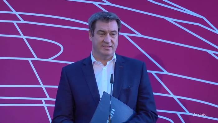 News video: Kanzlerkandidatur: Söder in Umfrage deutlich vor Laschet