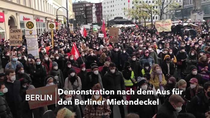 News video: Tausende Menschen bei Mieterdemo in Berlin