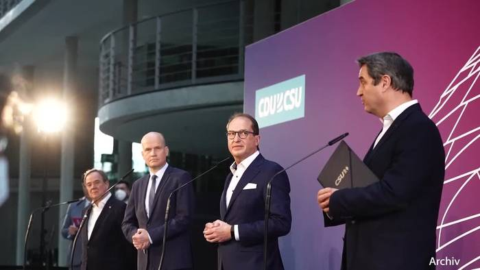 News video: Machtkampf zwischen Laschet und Söder spitzt sich zu