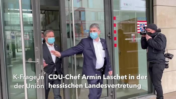 News video: K-Frage in der Union: Laschet führt weitere Gespräche