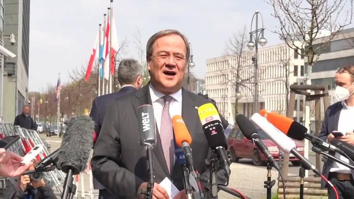News video: Laschet: Union kann Bundestagswahl nur gemeinsam gewinnen