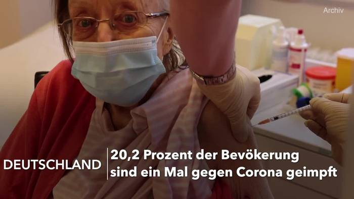 News video: Corona-Impfungen: Über ein Fünftel schon geimpft