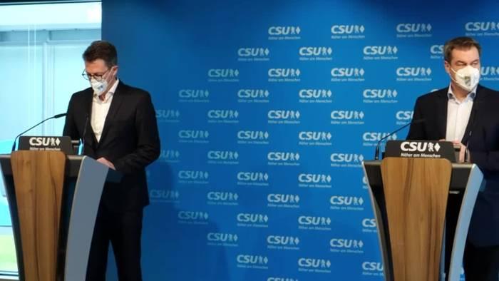 News video: Söder gibt auf und akzeptiert CDU-Votum für Laschet