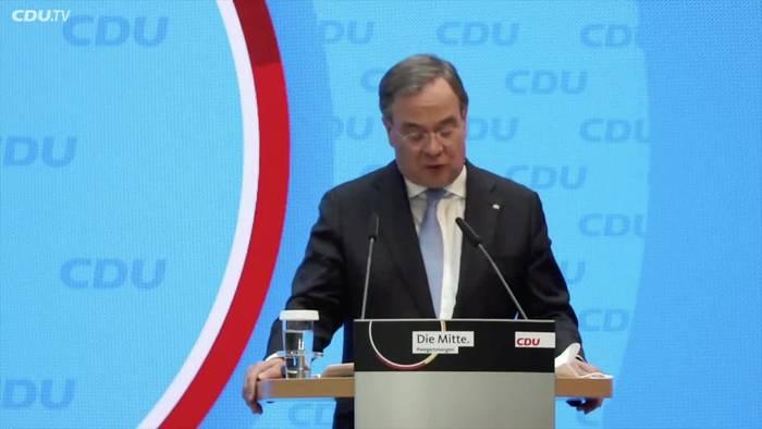 News video: Laschet dankt Söder und CSU für Unterstützung