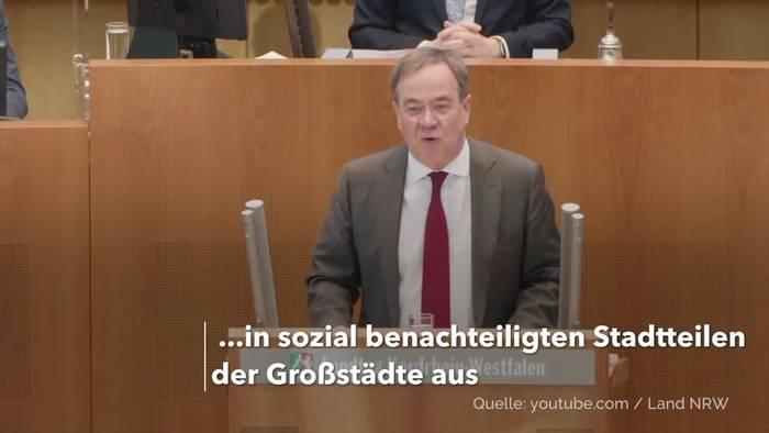 News video: Laschet: Hohe Inzidenz darf «nicht von der Postleitzahl