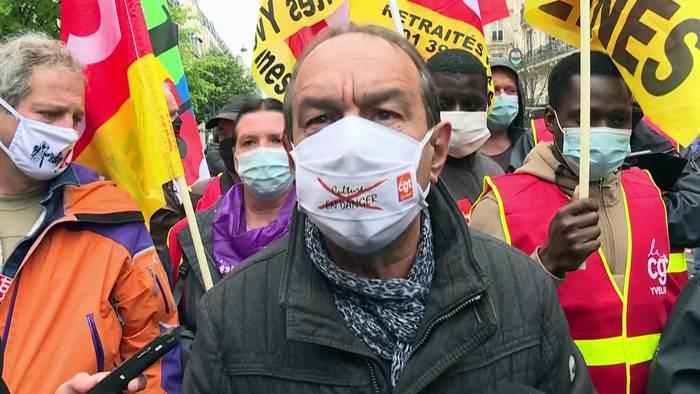 News video: 1. Mai in Europa: Proteste im Zeichen der Pandemie
