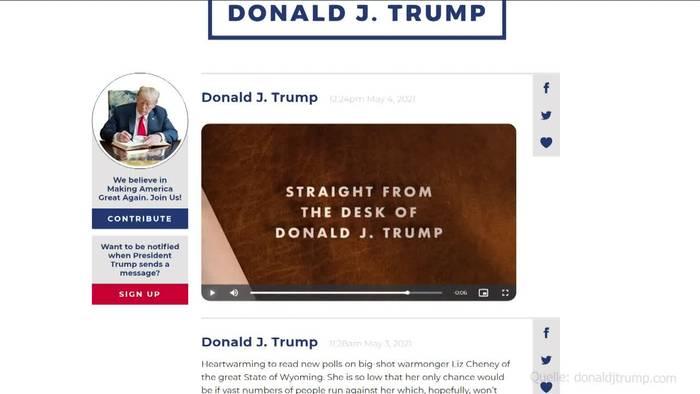 News video: Nach Social-Media-Aus: Trump startet sein eigenes «Twitter»