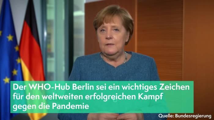 News video: So begrüßt Merkel den WHO-Hub in Berlin