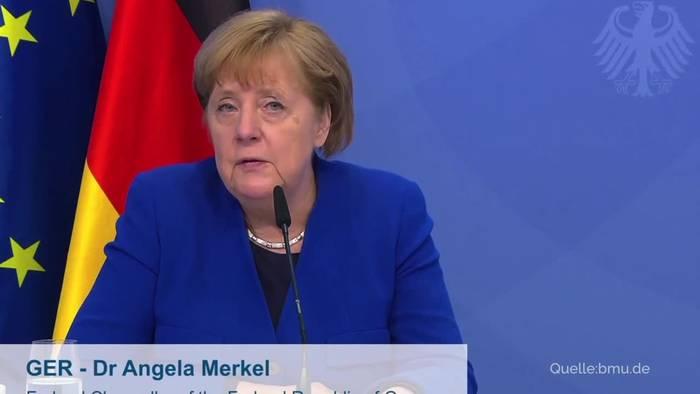 Video: Merkel ist für CO2-Bepreisung als Instrument für Klimaschutz