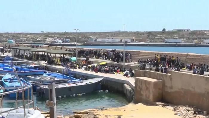 News video: Druck auf Lampedusa wächst: Alarmglocken schrillen in Rom und Brüssel