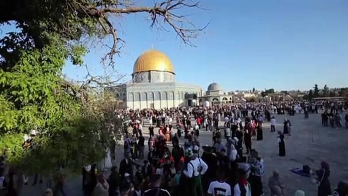 News video: Gebete für Gaza am muslimischen Eidfest