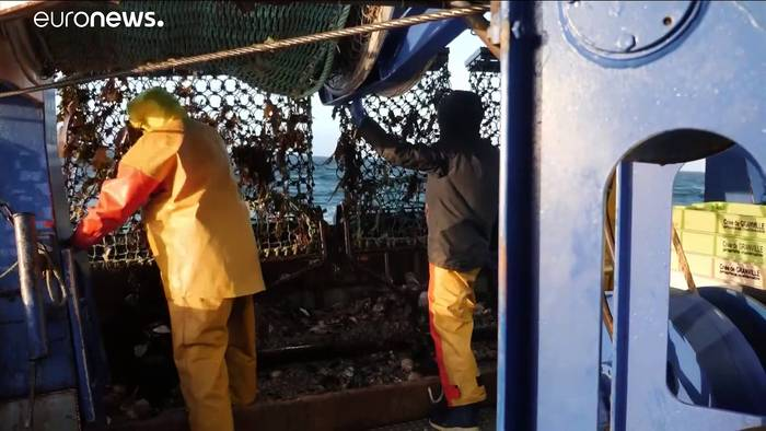 News video: Streit um Fanggründe vor Jersey: Französische Fischer in Not