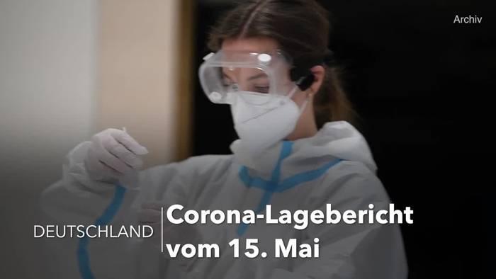 News video: Corona-Lage in Deutschland: RKI-Lagebericht vom 15. Mai