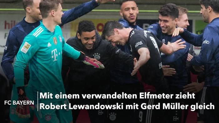 News video: Bayern-Stürmer Lewandowski stellt Tor-Rekord ein