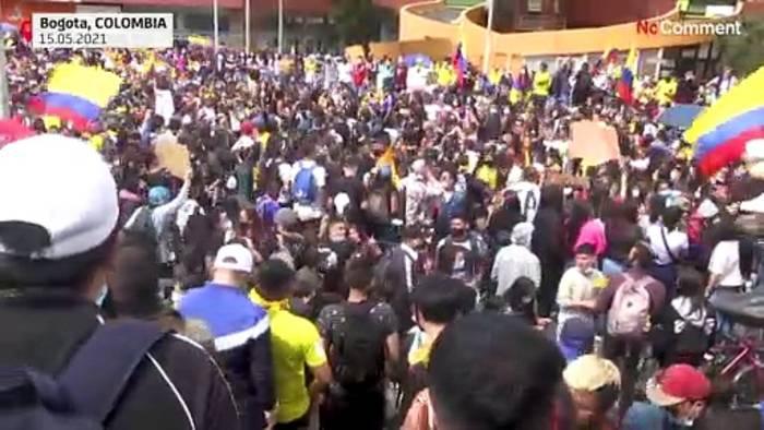News video: Studenten in Kolumbien protestieren gegen soziale Ungleichheit